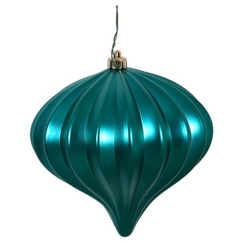 3ct Teal Shiny Onion-Shaped Christmas Ornament Set - image 1 of 1