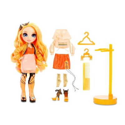 Rainbow High Poppy Rowan – Orange Fashion Doll with 2 Outfits