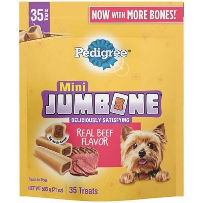 PEDIGREE JUMBONE Real Beef Flavor Mini Dental Dog Treats - 21oz