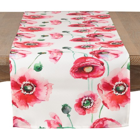 "Saro Lifestyle 72""X16"" Colorpop Garden Table Runner Pink - image 1 of 3"
