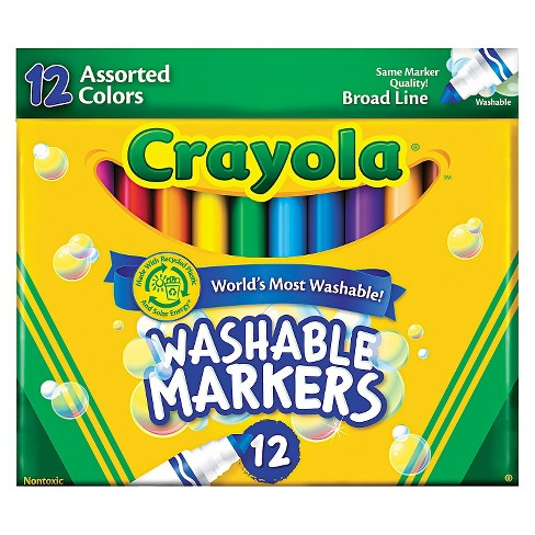 Crayola Markers Broad line Washable 12ct Assorted - image 1 of 1