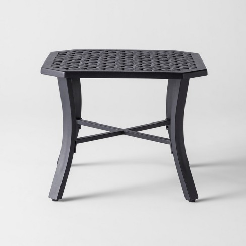 Chester Aluminum Octagon Patio Side Table Threshold