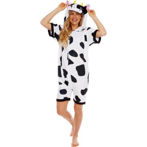 Funziez! Cow Adult Short Sleeve Novelty Romper - image 1 of 4