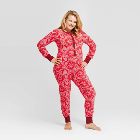 Women's Holiday Snowflake Bodysuit Pajamas - Hearth & Hand™ with Magnolia - image 1 of 3