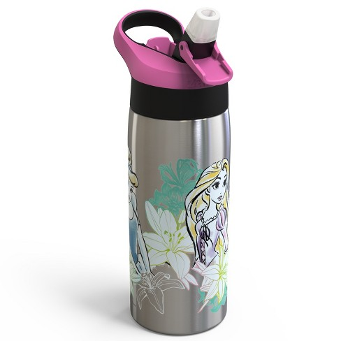 Disney Princess 19oz Stainless Steel Water Bottle Pink/Black - Zak Designs - image 1 of 3