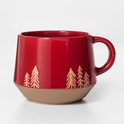 16oz Porcelain Tree Coffee Mug Red/Brown - Project 62™