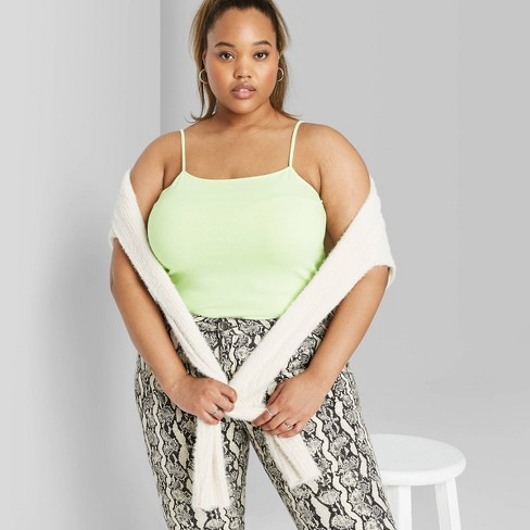Women's Cropped Cami - Wild Fable™ (Regular & Plus) - image 1 of 3