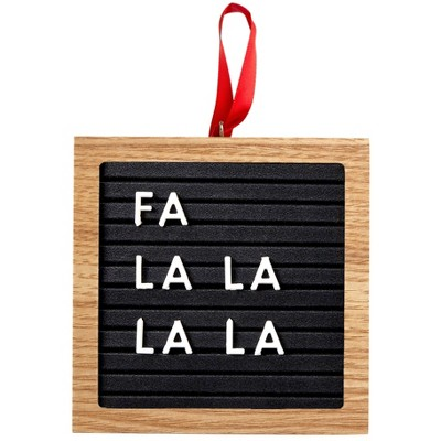 Pearhead Holiday Letterboard Ornament - Black