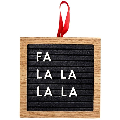 Pearhead Holiday Letterboard Ornament - Black - image 1 of 4