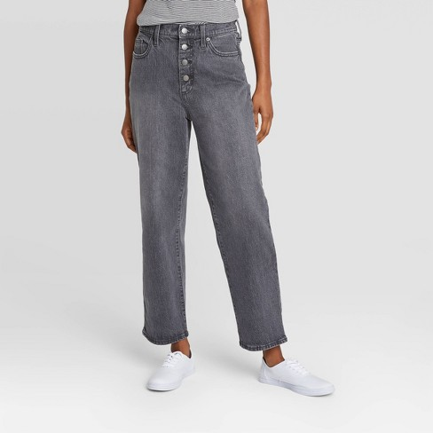 Women's High-Rise Vintage Straight Cropped Jeans - Universal Thread™ - image 1 of 4