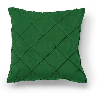 "20""x20"" Oversize Velvet Waffle Pleat Square Throw Pillow - Sure Fit"