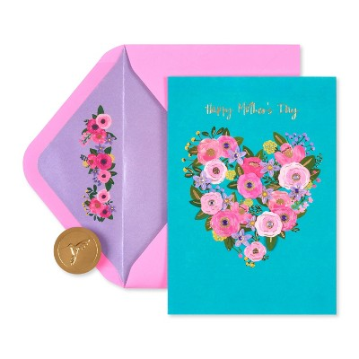 Mother's Day Greeting Card Floral Heart - PAPYRUS