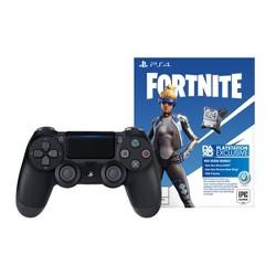 DualShock 4 Wireless Controller for PlayStation 4: Fortnite Bundle - Black