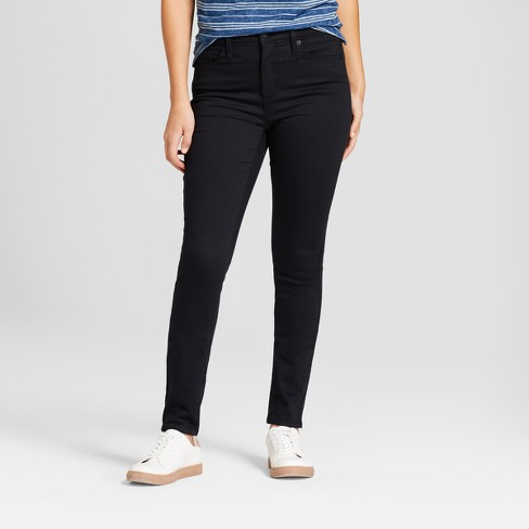 Women's High-Rise Skinny Jeans - Universal Thread™ Black - image 1 of 3
