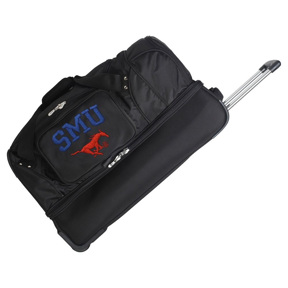 NCAA Smu Mustangs 27'' Rolling Drop Bottom Duffel Bag