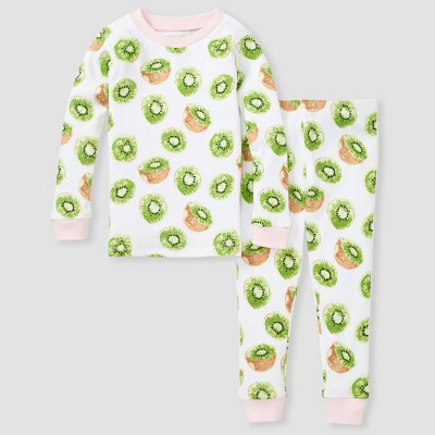 Burt's Bees Baby® Toddler Girls' 2pc Kiwi Snug Fit Pajama Set - Pink