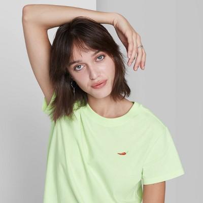 Women's Short Sleeve Shrunken Boxy T-Shirt - Wild Fable™