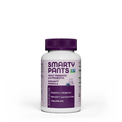 SmartyPants Vitamins Adult Prebiotic and Probiotic Immunity Formula Gummies - Blueberry - 40ct