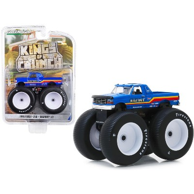 """1996 Ford F-250 Monster Truck """"Bigfoot #7"""" Metallic Blue with Stripes 1/64 Diecast Model Car by Greenlight"""