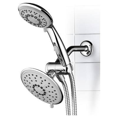 Beau Dual Shower Head Ultra   Luxury Rainfall Shower System Chrome   Hydroluxe :  Target