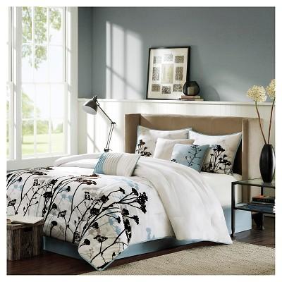 Blake 7 Piece Comforter Set - Blue (King)
