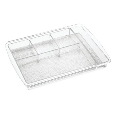 mDesign Expandable Makeup Organizer Tray for Bathroom Drawers, 2 Pack