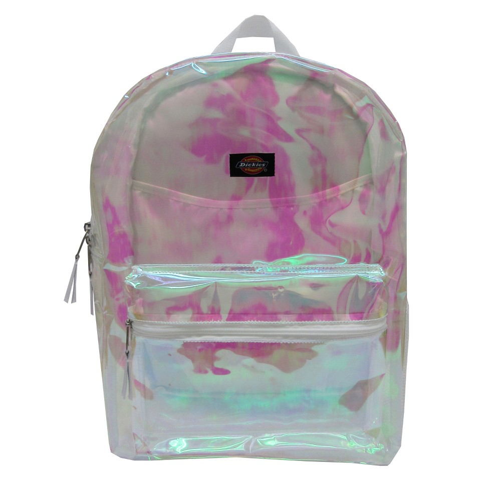 "Image of ""Dickies 17"""" Clear Student Backpack - Champagne Iridescent"""