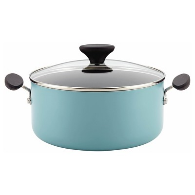 Farberware Reliance Aluminum Nonstick 5 Quart Covered Dutch Oven - Aqua