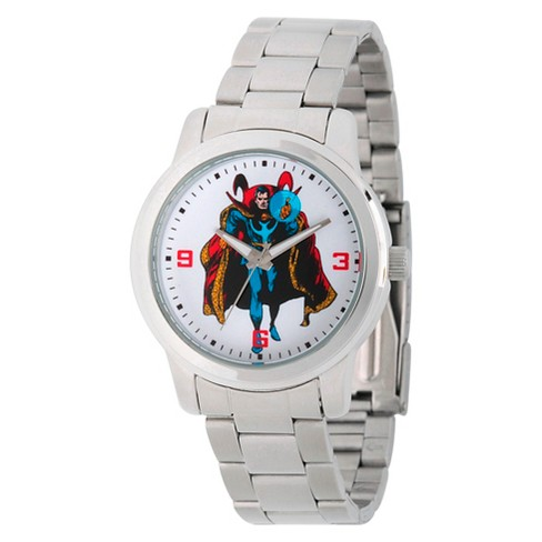 Men's Marvel's Comics Dr.Strange Silver Alloy Watch - Silver - image 1 of 2
