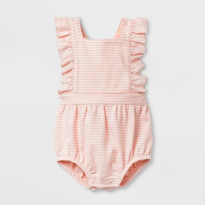Baby Girls' Textured Knit Romper - Cat & Jack™ Pink 3-6M