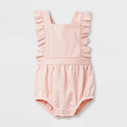 Baby Girls' Textured Knit Romper - Cat & Jack™ Pink