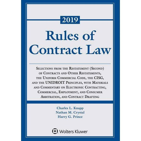 Rules of Contract Law - (Supplements) by  Charles L Knapp & Nathan M Crystal & Harry G Prince - image 1 of 1