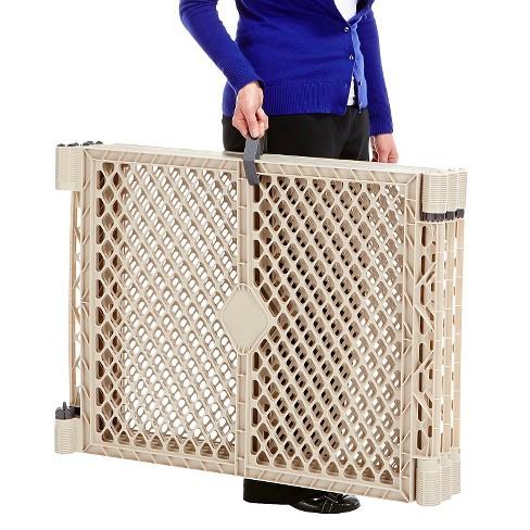 North States Superyard Indoor Outdoor 8 Panel Freestanding Gate