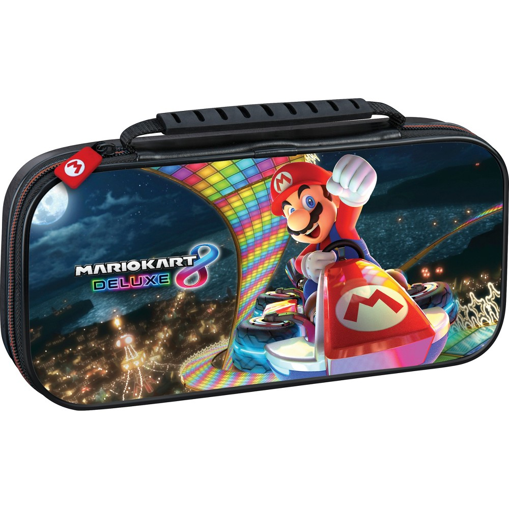 MarioKart 8 Game Traveler Deluxe Travel Case, Multi-Colored Deluxe Travel Case Color: Multi-Colored. Pattern: Fictitious character.