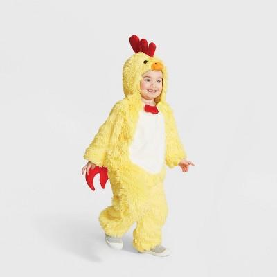Toddler Plush Chicken Halloween Costume Jumpsuit - Hyde & EEK! Boutique™