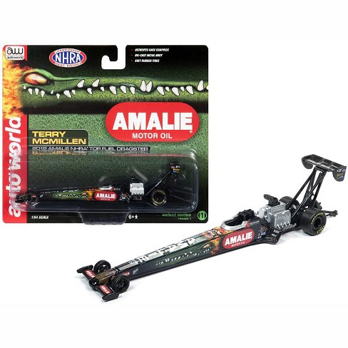 """2018 Funny Car NHRA Terry McMillen """"Amalie Oil"""" TFD 1/64 Diecast Model Car by Autoworld - image 1 of 1"""