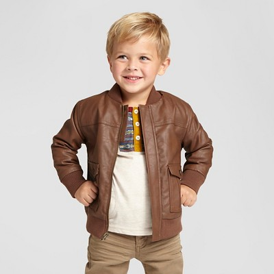 ea11fe1bb Toddler Boys Bomber Jacket – Brown Patina 5T – Genuine Kids™ from ...