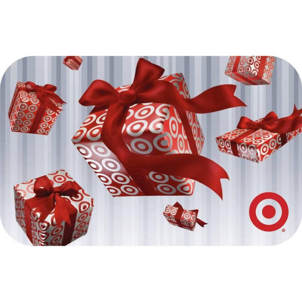 Raining Gift Boxes Target GiftCard $20 Raining Gift Boxes Target GiftCard $20 Gender: unisex.