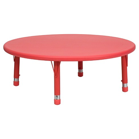 Flash Furniture Round Activity Table Red - Belnick - image 1 of 4