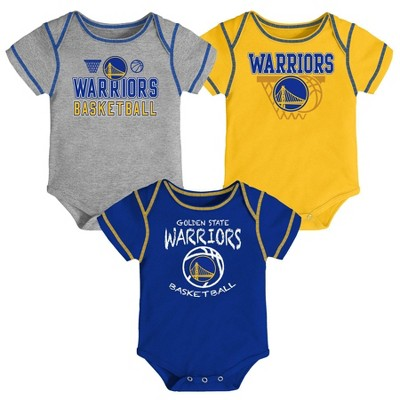 NBA Golden State Warriors Baby Boys' Onesies Bodysuit 3pk
