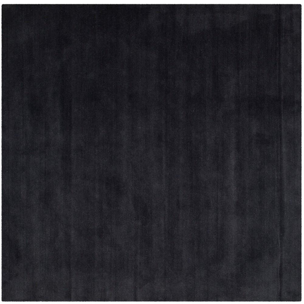 8'X8' Solid Tufted Square Area Rug Black - Safavieh
