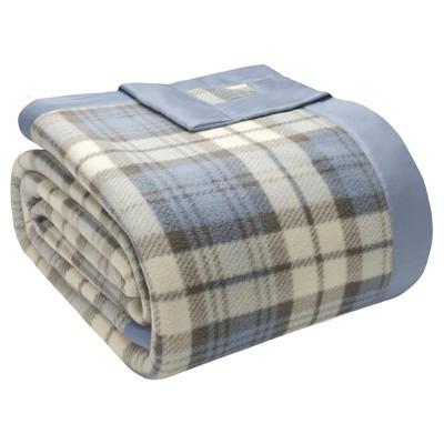 Micro Fleece Blanket (Full/Queen)Blue Plaid
