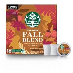 Starbucks Fall Blend Hearty with Spice Notes Medium Roast Coffee - Keurig K-Cup Pods - 16ct
