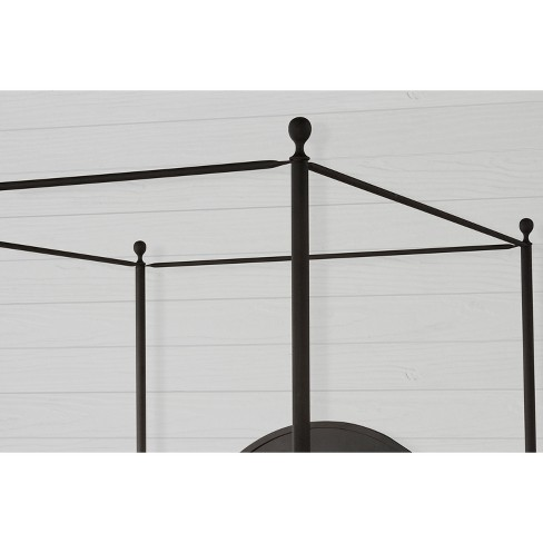a366933067e5 Cumberland Metal Canopy Bed Set King Textured Black - Hillsdale Furniture    Target