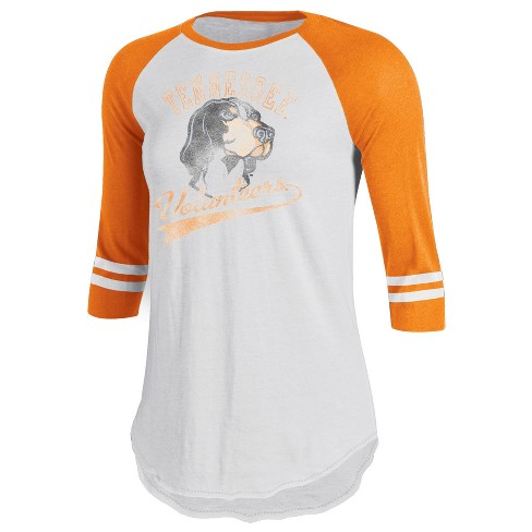Tennessee Volunteers Women's Retro Tailgate White/3/4 Sleeve T-Shirt XL - image 1 of 1