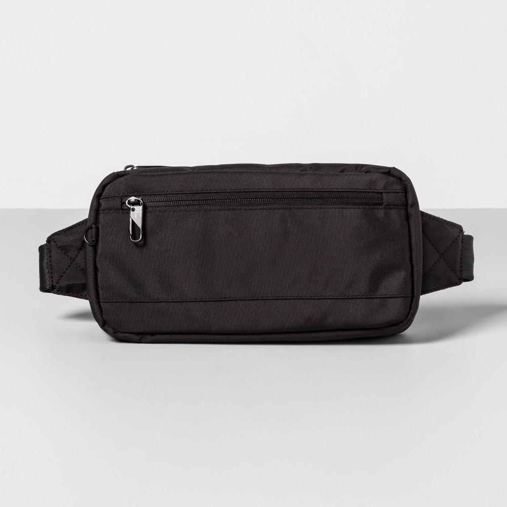 Antitheft Rfid Hip Sling Pack Black Made By Design 8482
