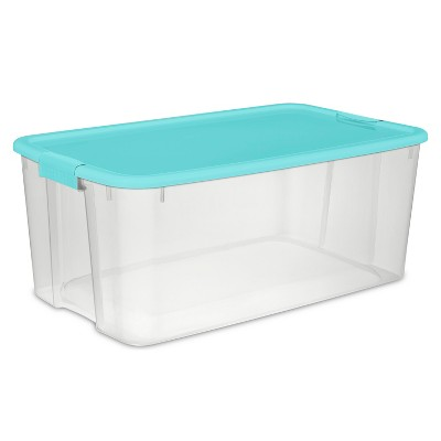 116qt Ultra Latch Box Clear/Blue - Sterilite