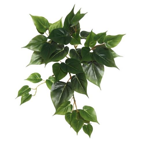 "Vickerman 18"" Artificial Green Philodendron Hanging Bush. - image 1 of 1"