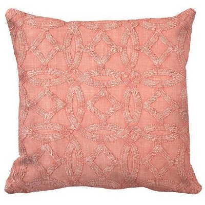 Square Medallion Garment Washed Pillow Pink - Threshold™