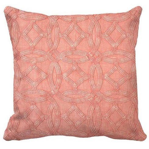 Square Medallion Garment Washed Pillow - Threshold™ - image 1 of 1